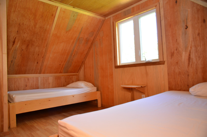chambre- douche-pourvoirie- eau chaude